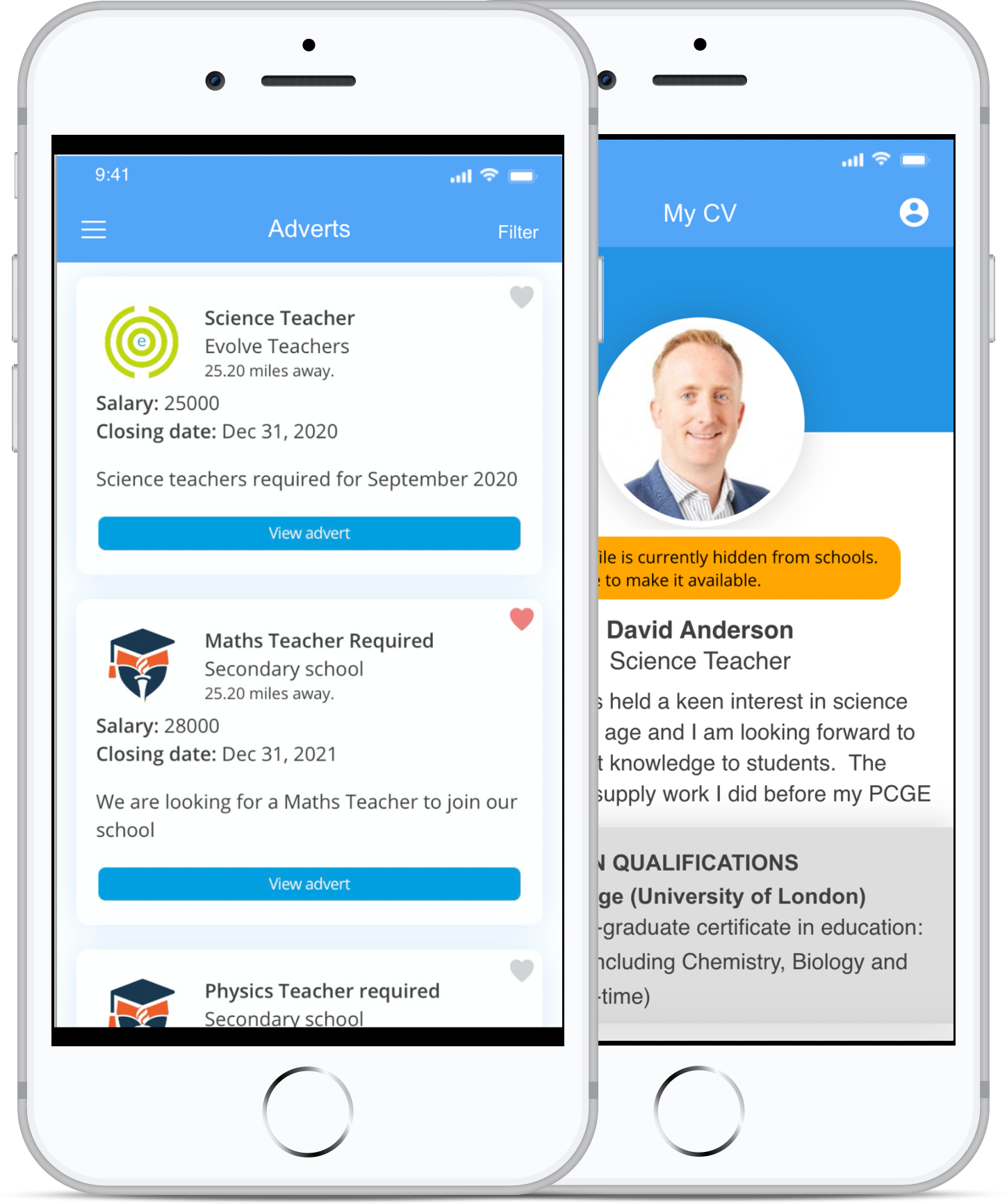 Evolve Teachers - Find Teacher Jobs App